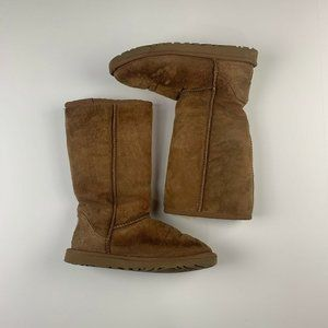 Womens UGG Classic Tall Tan Boots Size 6
